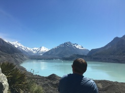 Looking at the Tasman Glacer!