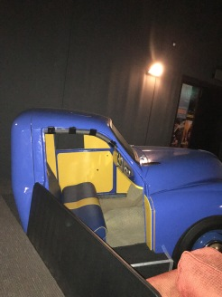 A 'drive-in' pair of seats at the theater!