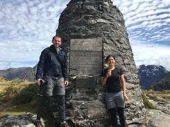 Yay, we made it to the (almost) top! The McKinnon Memorial!