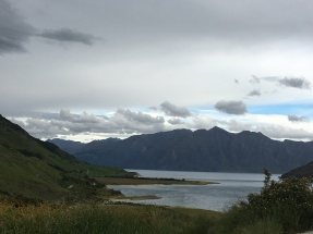 The beautiful Lake Hawea, just before Wanaka...